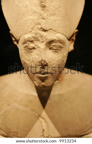 Egyptian sculpture in louvre - stock photo