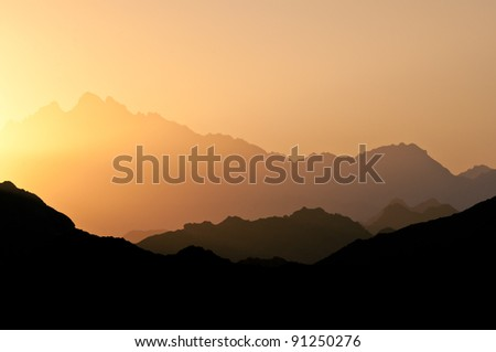 Egyptian stone desert sunset