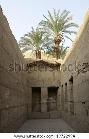 Egyptian temple. - stock photo