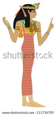 Egyptian woman - Explanation - stock photo