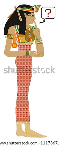 Egyptian woman - Question - stock photo