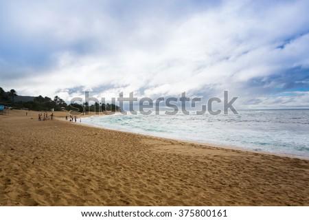 Ehukai Beach North shore Oahu, Hawaii (Banzai pipeline) - stock photo