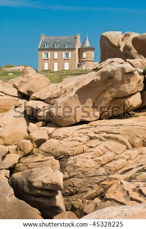 Eiffel-House near Ploumanach on the Cote de Granite, Brittany, France