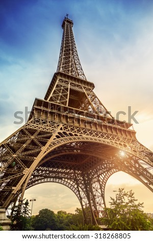 Eiffel Tower - stock photo
