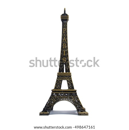 Eiffel Tower a white background