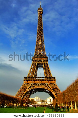 Eiffel Tower at daylight - Paris - stock photo