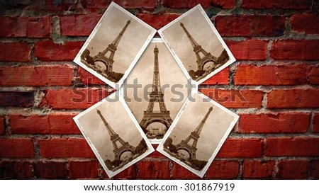 EIFFEL TOWER COLLAGE - stock photo