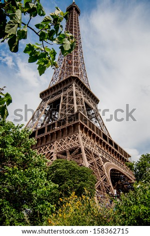 Eiffel Tower / Eiffel Tower in Paris, France.  - stock photo