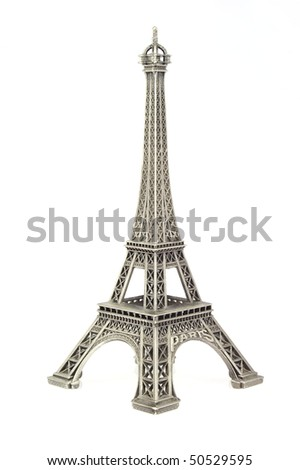 Eiffel tower figurine - stock photo