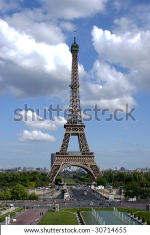 Eiffel tower HDR - stock photo