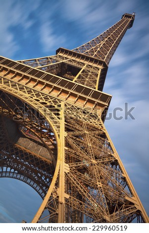 Eiffel Tower. Image of Eiffel Tower in Paris, France. - stock photo