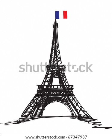 Eiffel Tower in Paris , Europe - stock photo