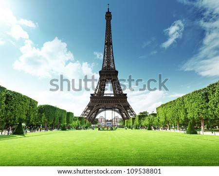 Eiffel tower in Paris, France - stock photo