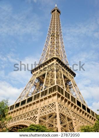 Eiffel tower in Paris, France - stock photo