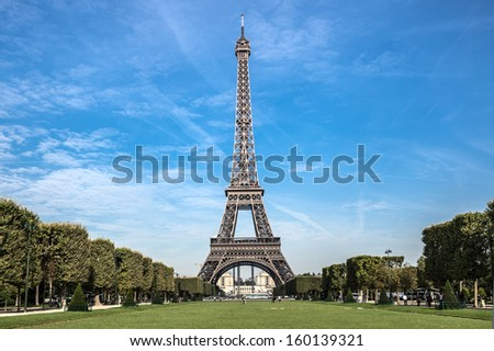Eiffel tower in the morning, Paris, France - stock photo