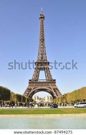 Eiffel tower is a one of the most recognizable structures in the world