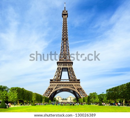 Eiffel Tower - Paris - stock photo