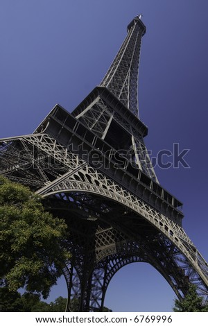 Eiffel tower, paris - stock photo