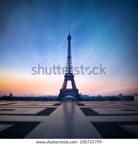 Eiffel tower - Paris - France - stock photo