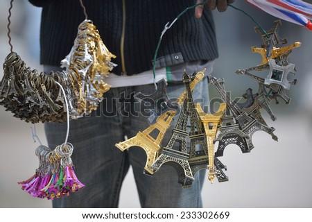 Eiffel Tower, Paris, France sovenirs - stock photo