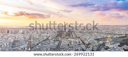 Eiffel Tower, Paris, France. Top Europe Destination. - stock photo