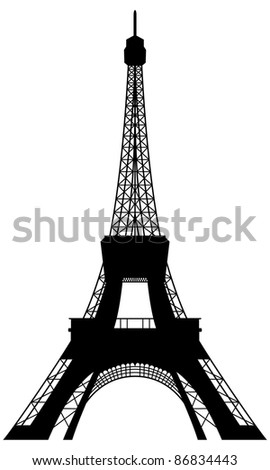 Eiffel tower silhouette. Illustration for design use.