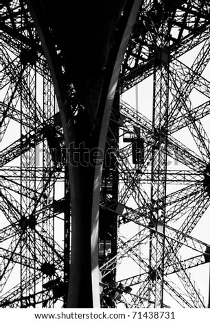 Eiffel Tower Structure - stock photo