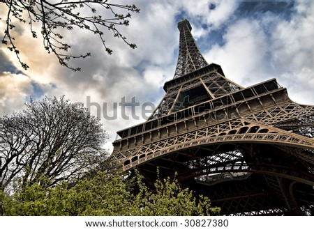 Eiffel tower (super wide angle shot)