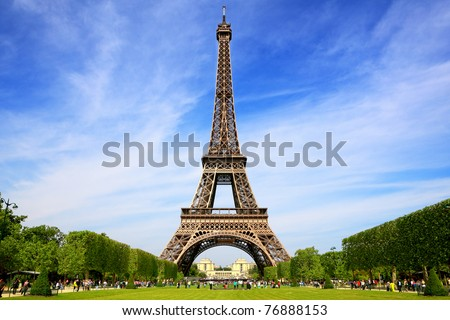 Eiffel Tower, symbol of Paris - stock photo
