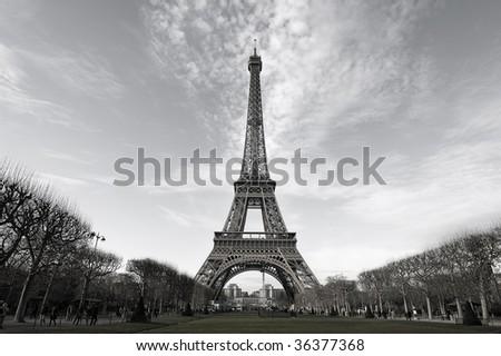 Eiffle Tower desature, Paris - stock photo