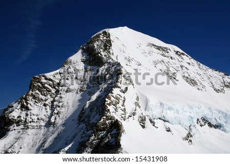 Eiger Mountain in Bern Alps (Switzerland)