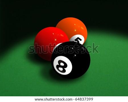 Eight ball - stock photo