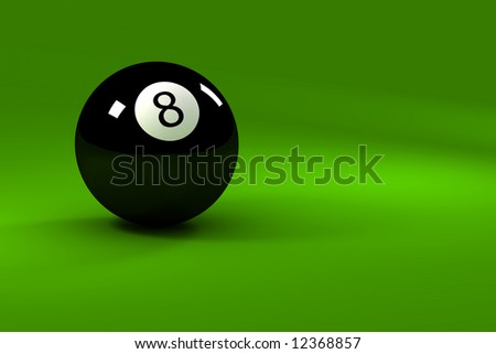 Eight ball - closeup on eightball with light reflections - stock photo