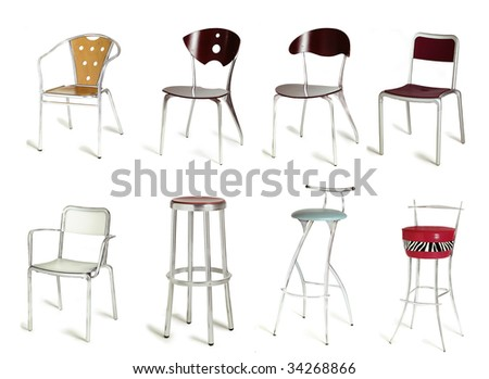 eight different cafe chair design