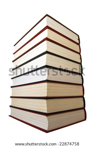 Eight early colored book each other. - stock photo