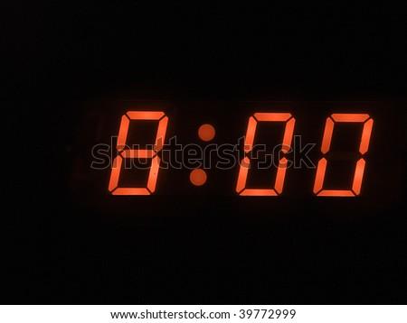 eight o clock am - stock photo