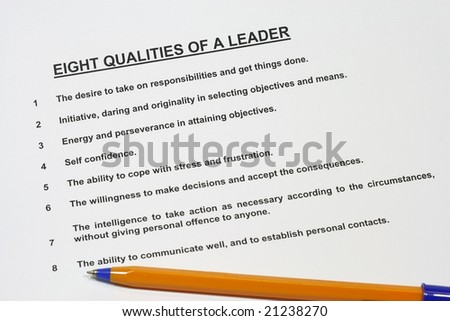 Eight Qualities of a Leader