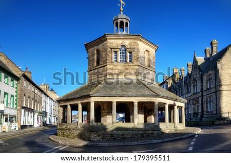 Eighteenth Century Market Cross, Barnard Castle - stock photo