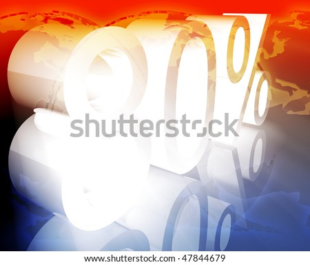 Eighty 80 percent discount sale price reduction promotion background