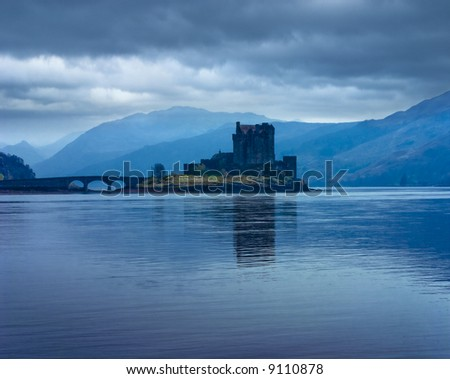 Eilan Donan castle in the Scottish Highlands - stock photo