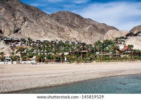 Eilat, Red Sea landscape - stock photo