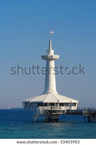 Eilat Underwater Observatory - stock photo