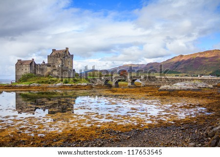 Eilean Donan Castle, Highland, Scotland - stock photo