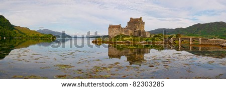 Eilean Donan castle in north east Scotland