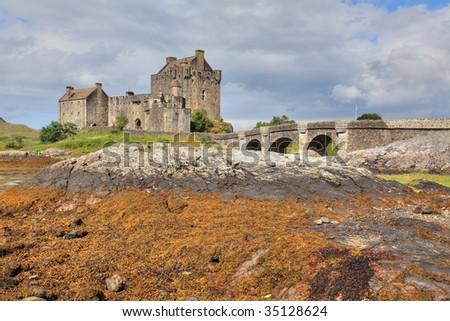 Eilean Donan Castle in Scotland, hdri - stock photo