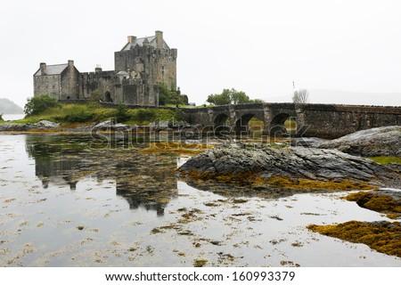 Eilean Donan Castle in Scotland, UK - stock photo
