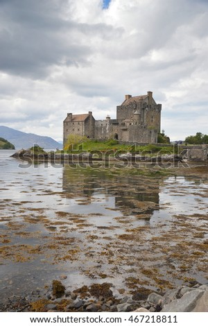 eilean donan castle in the highlands in Scotland