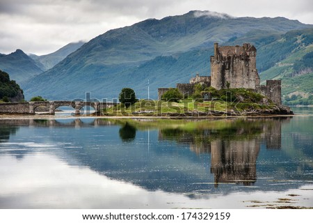 Eilean Donan Castle, Loch Duich, Scotland, UK - stock photo