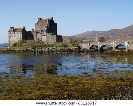 Eilean Donan Castle of Scotland - stock photo