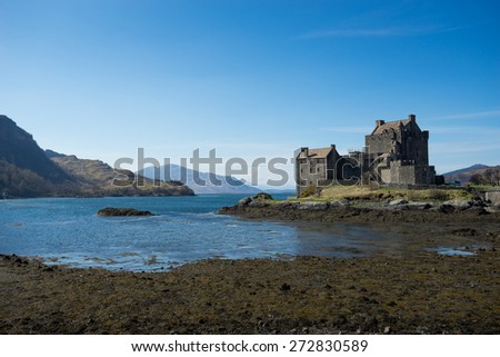 Eilean Donan Castle, scotland, Isle, of, skye - stock photo